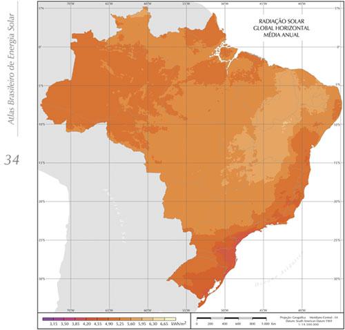 mapa fotovoltaico do brasil